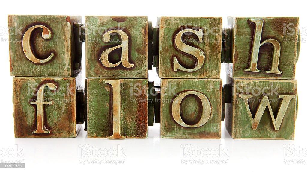 Cash Flow - Green Blocks stock photo