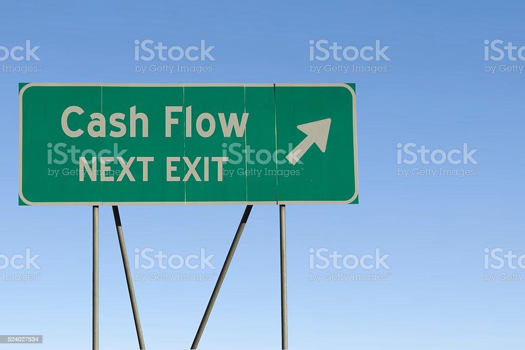 Cash Flow - Next Exit Road stock photo