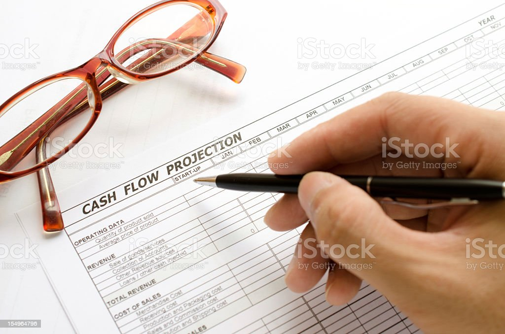 cash flow projection royalty-free stock photo