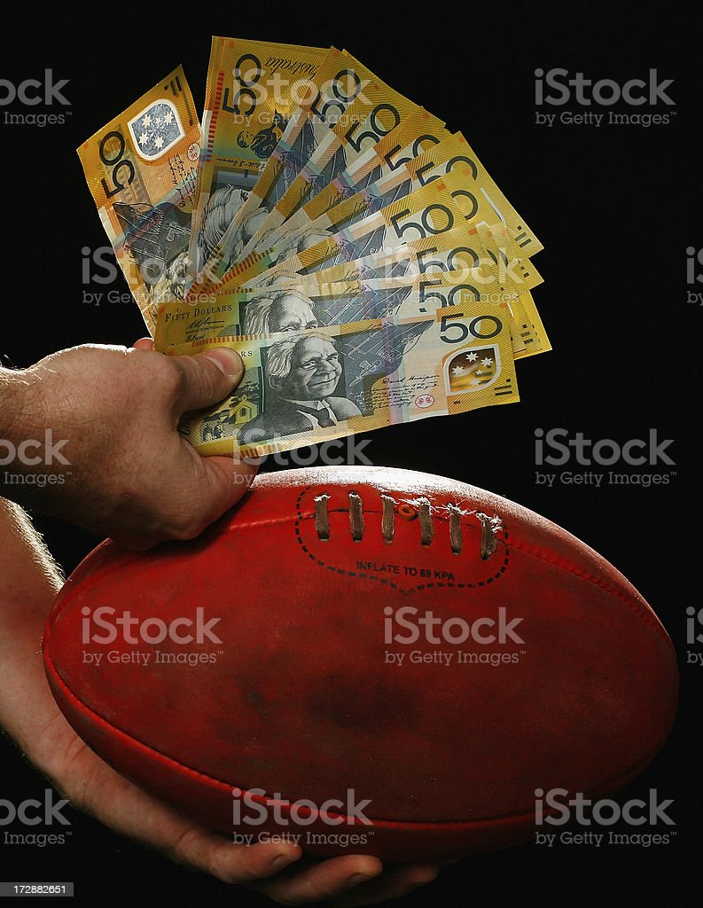 Cash for AFL royalty-free stock photo