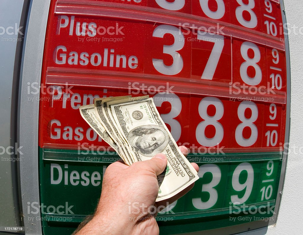 cash for gas (#2 of series) royalty-free stock photo
