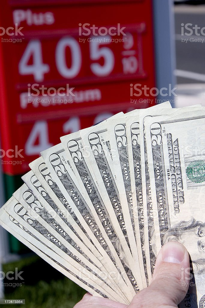 cash for gas (#6 of series) royalty-free stock photo