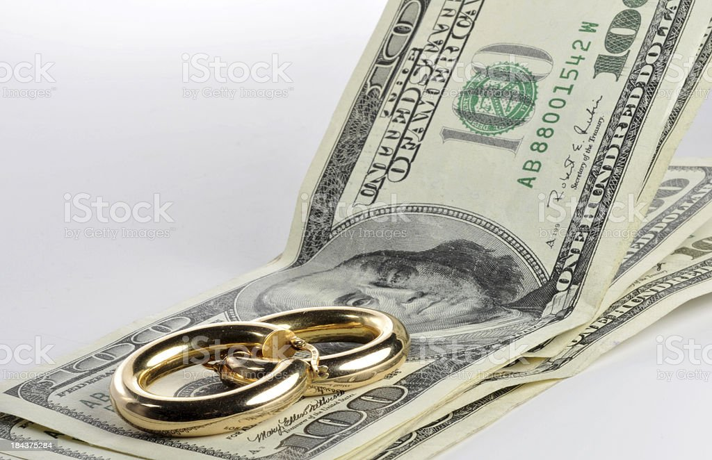 Cash for Gold stock photo