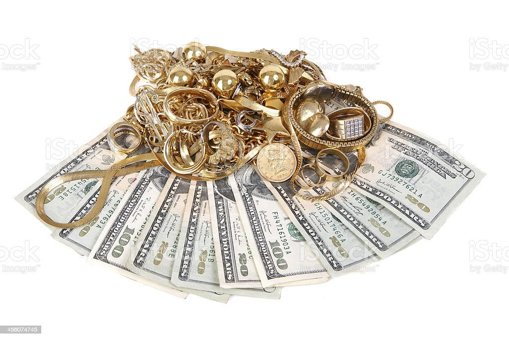 Cash for Gold royalty-free stock photo