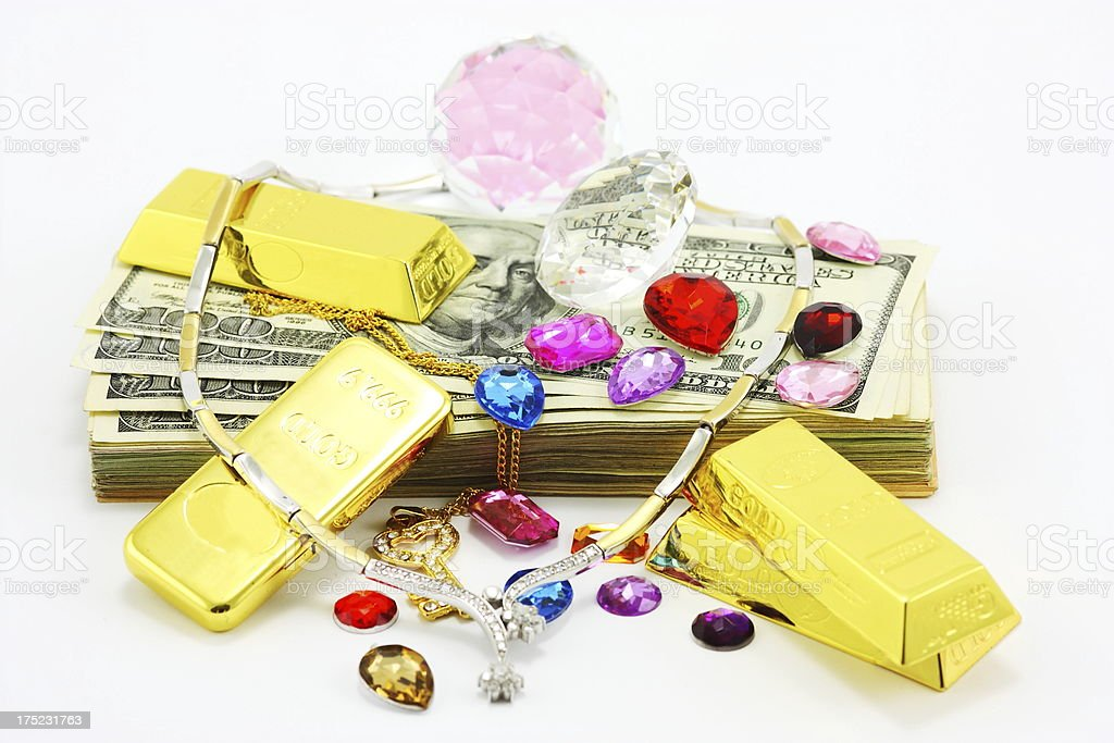 Cash for Scrap Gold stock photo