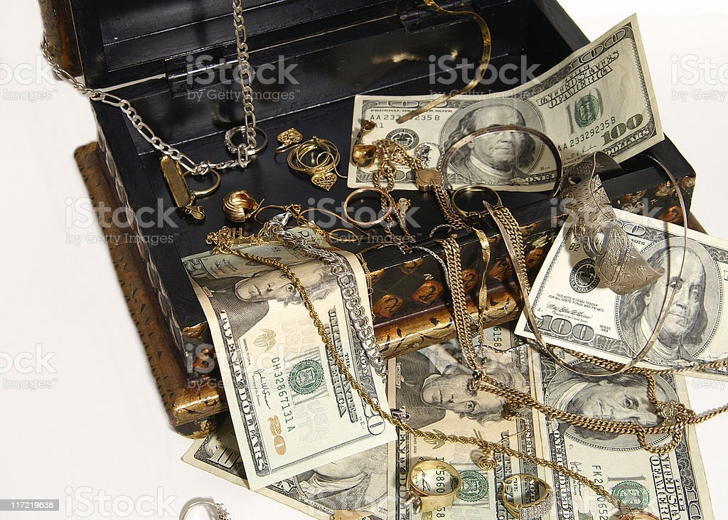 Cash for your gold and silver jewlery royalty-free stock photo