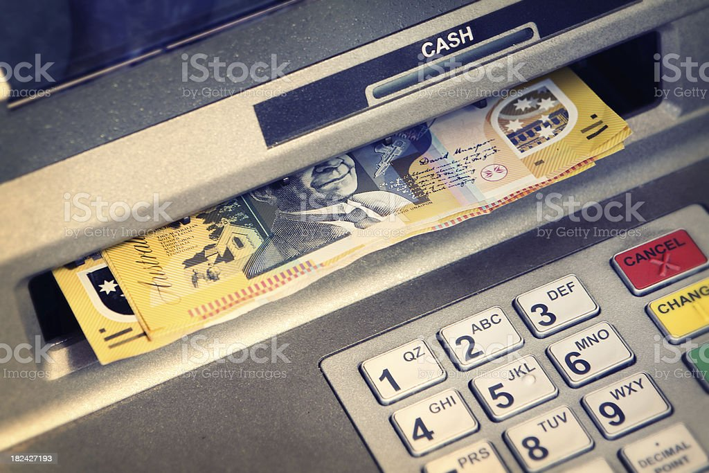 Cash from an ATM royalty-free stock photo