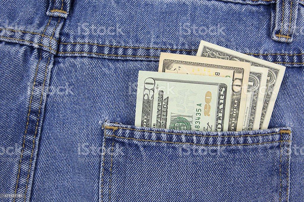 Cash in Back Pocket stock photo
