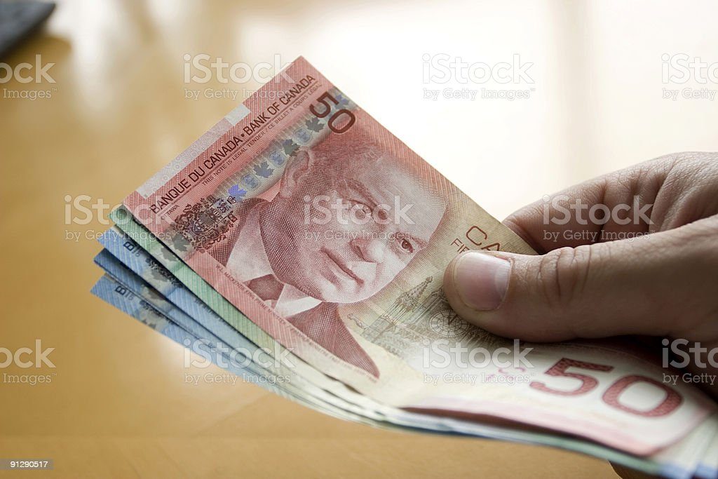 Cash in Hand royalty-free stock photo