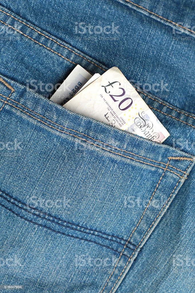 Cash in Pocket stock photo