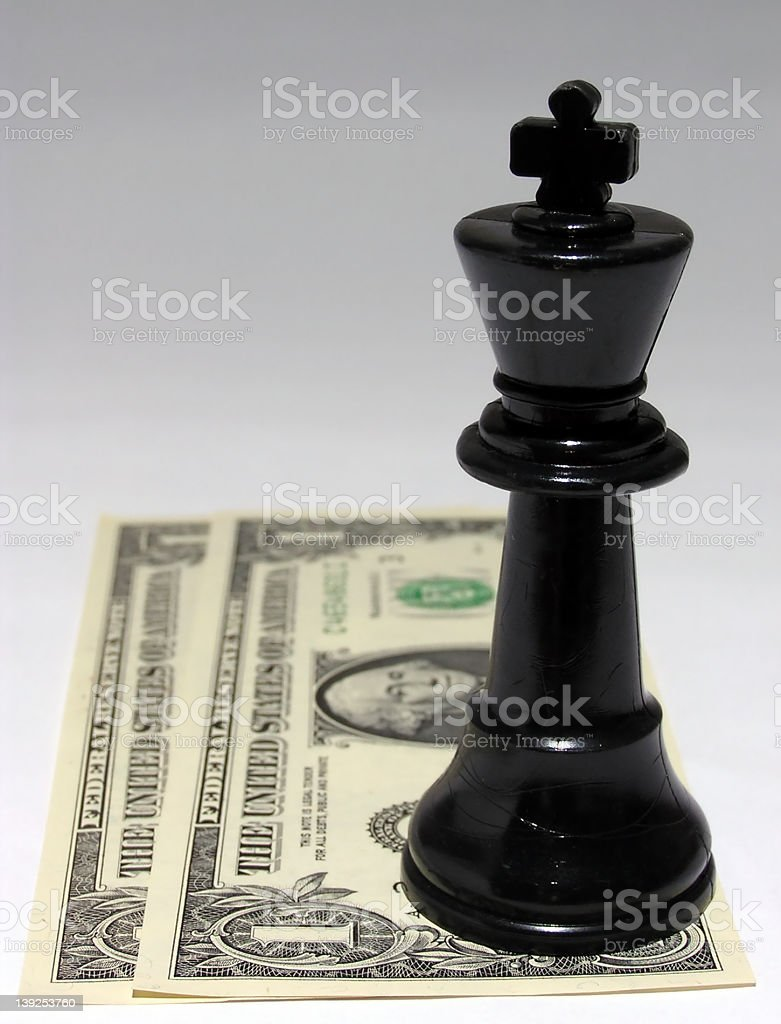 cash is king stock photo