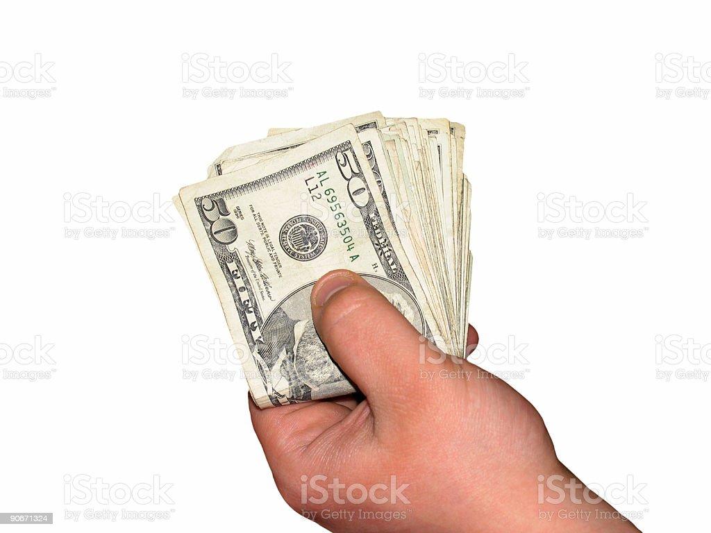 Cash - Isolated royalty-free stock photo