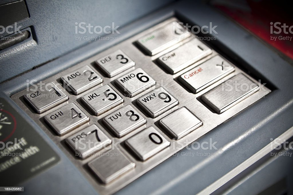 ATM cash machine royalty-free stock photo