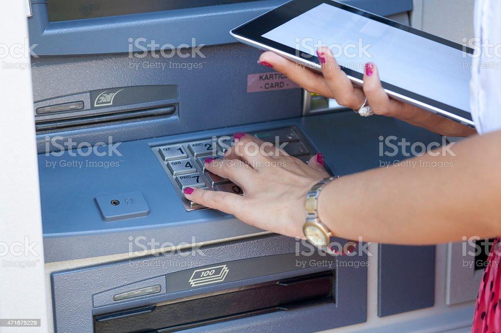 ATM cash machine royalty-free stock photo