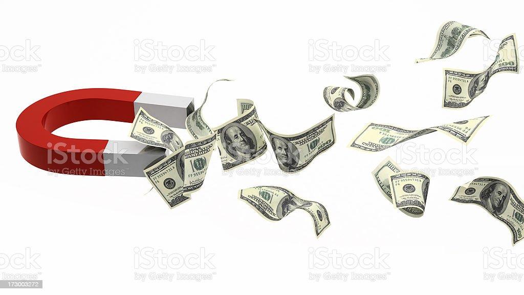 Cash Magnet stock photo