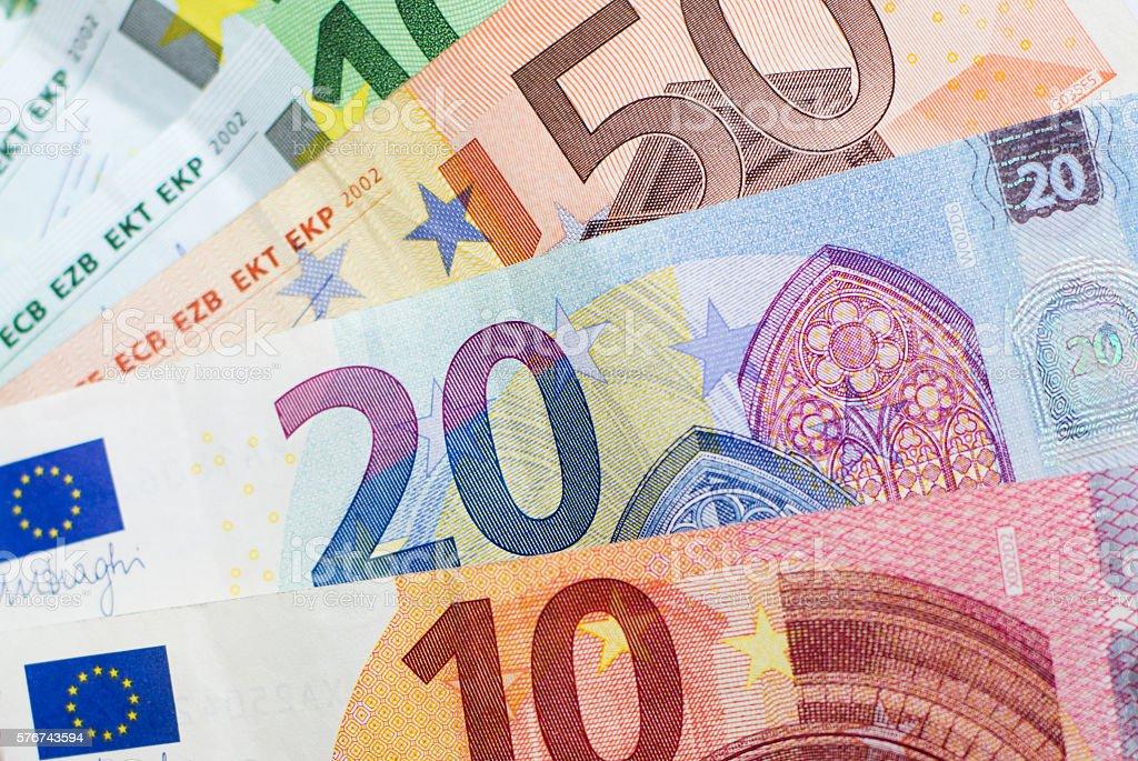 cash money - euro bills , european money stock photo