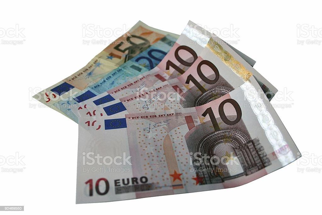 Cash money Euro royalty-free stock photo