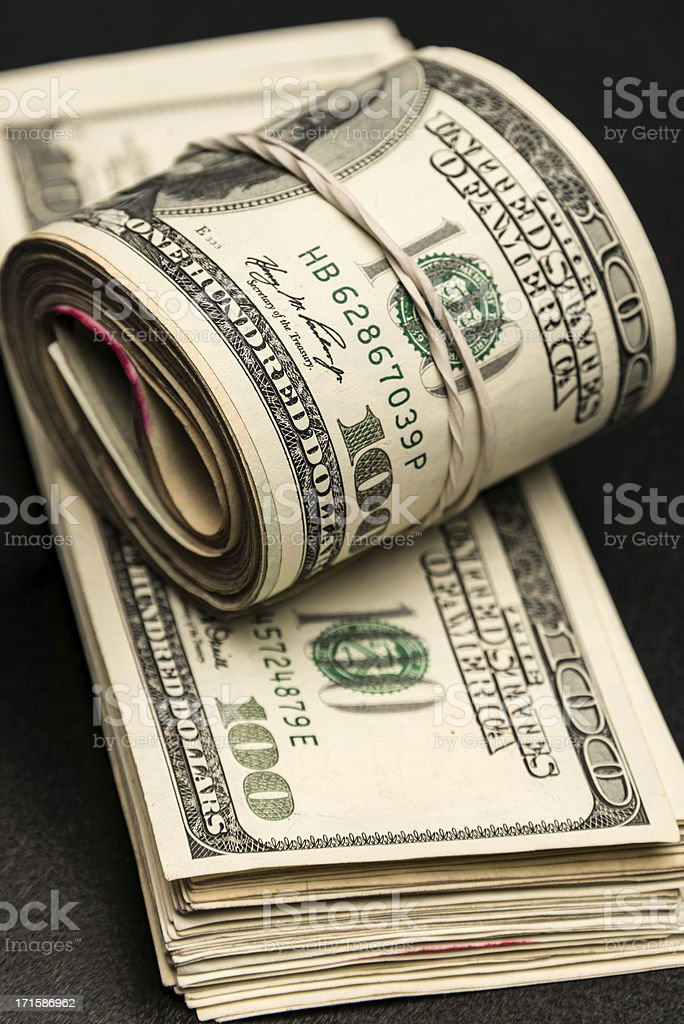 US Cash Money royalty-free stock photo