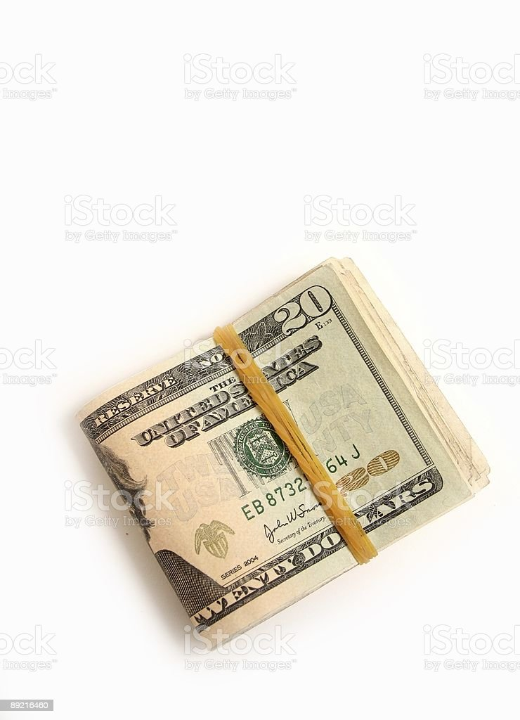 Cash money stock photo