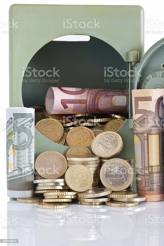 cash on safe stock photo