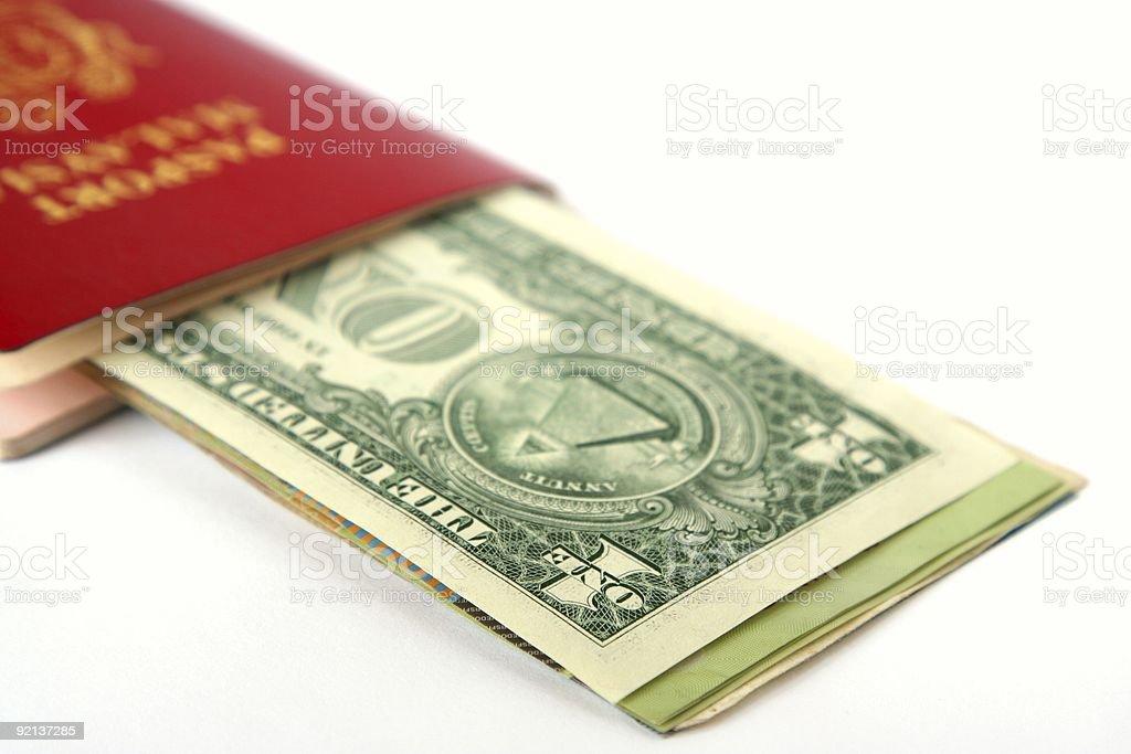 Cash on travel royalty-free stock photo