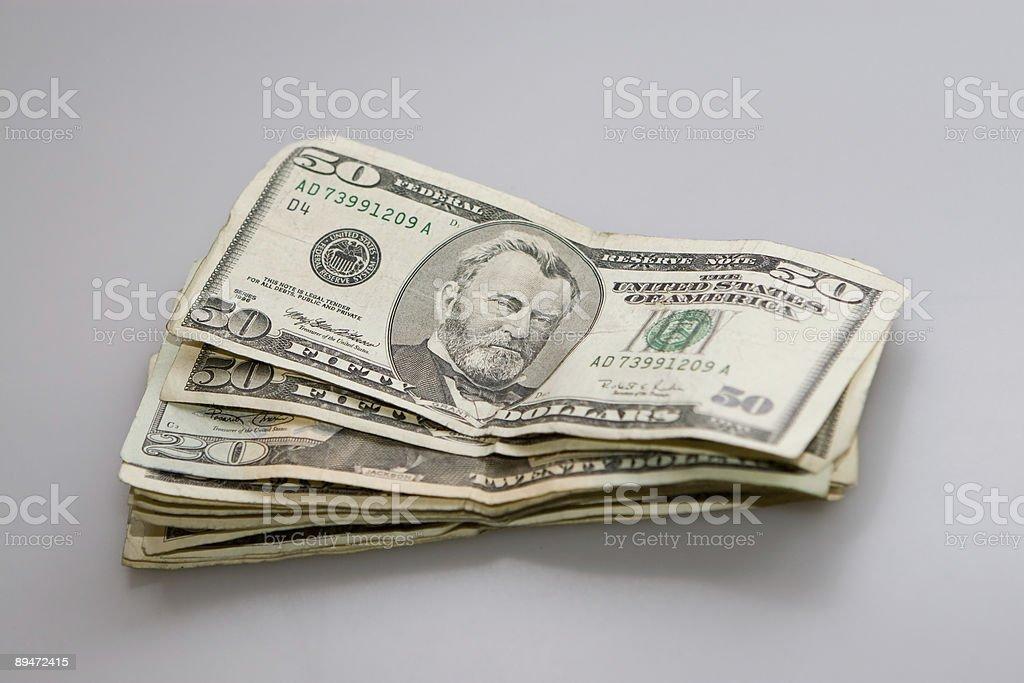 US Cash on white royalty-free stock photo