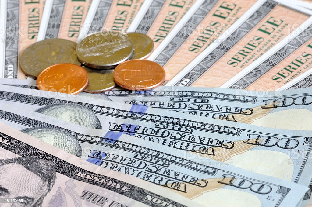 Cash or Bond stock photo