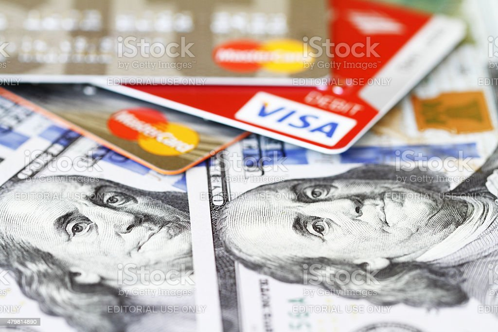 Cash or credit card, your choice stock photo