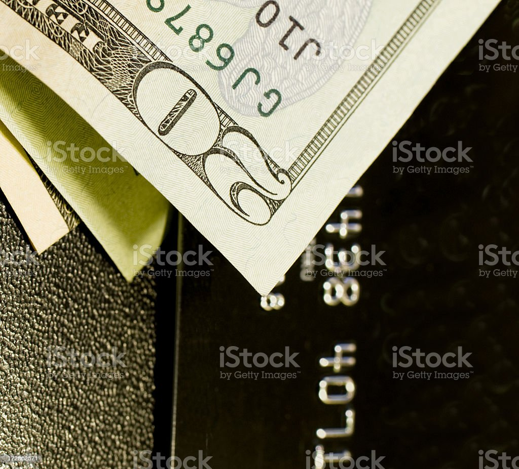 Cash Or Credit royalty-free stock photo