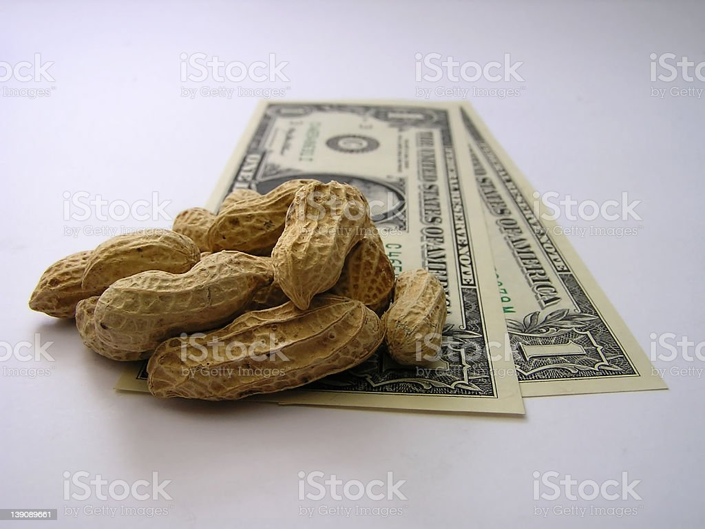 cash or peanuts #1 royalty-free stock photo