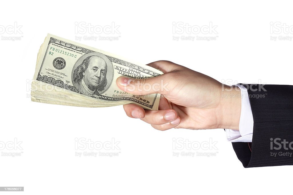Cash Payment royalty-free stock photo
