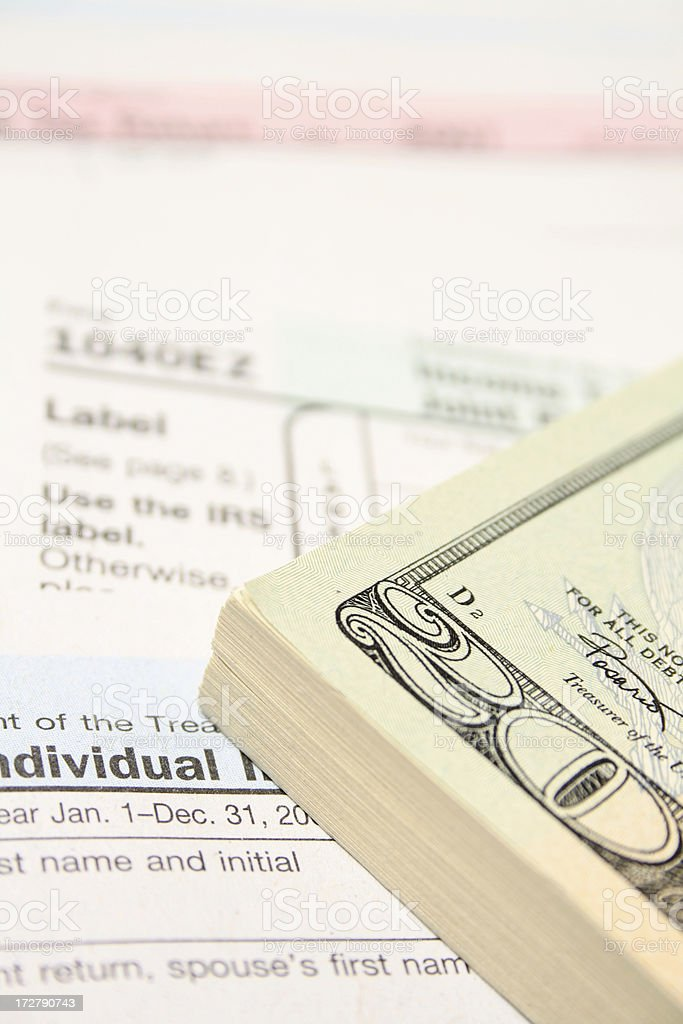 Cash (tax time) royalty-free stock photo