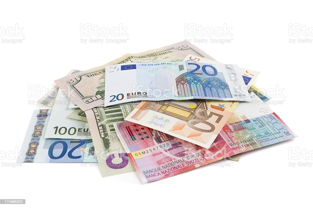 cash (clipping path) stock photo