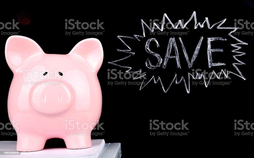SAVE Cash royalty-free stock photo