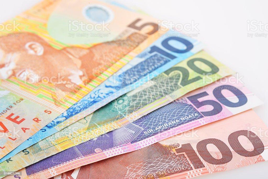NZ Cash stock photo