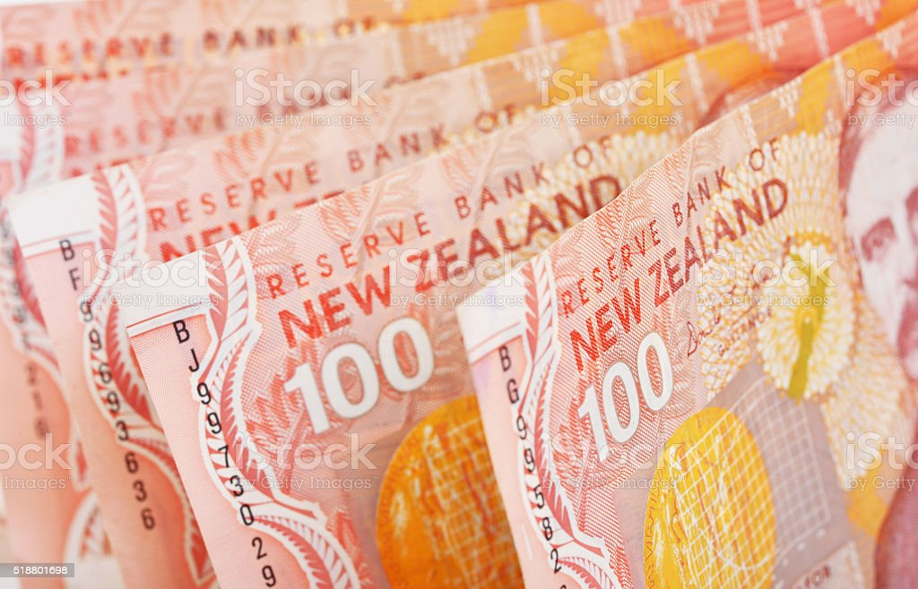 NZ Cash stock photo