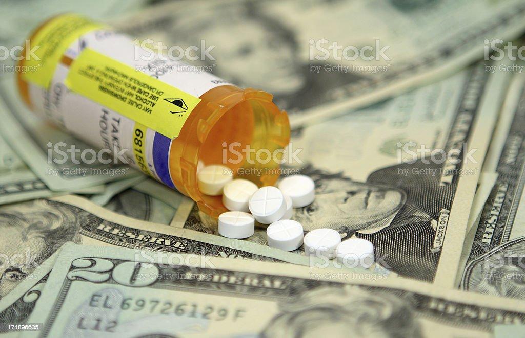Cash Pills stock photo