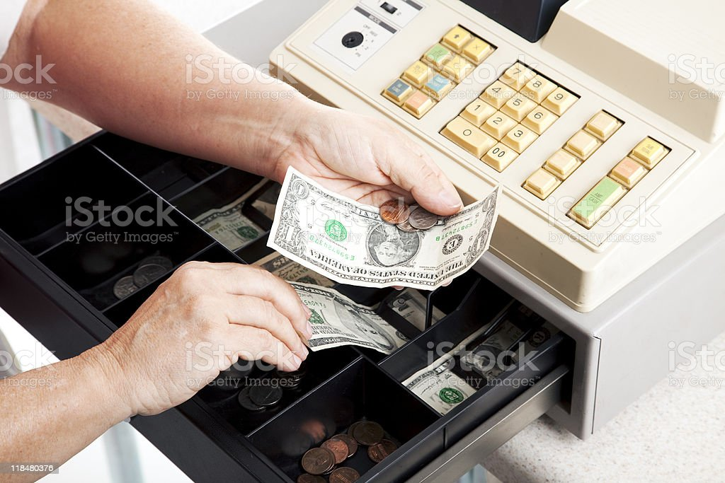 Cash Register Drawer Horizontal stock photo