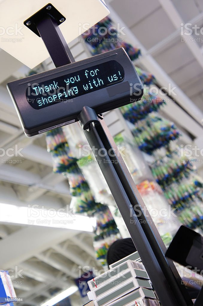 Cash register message royalty-free stock photo