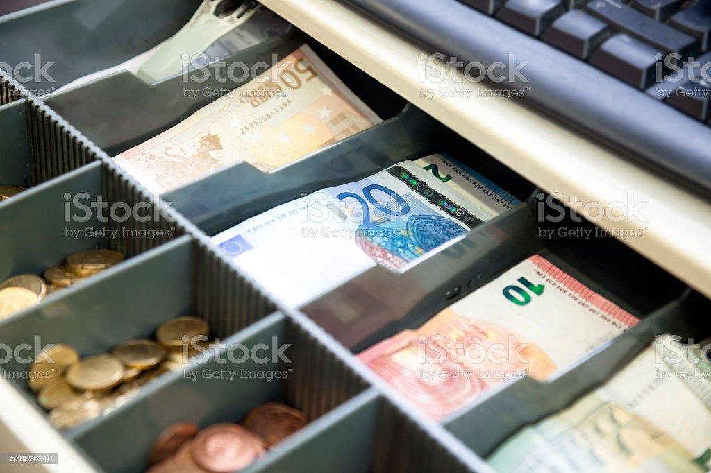 Cash register, open stock photo