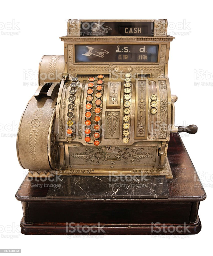 Cash register royalty-free stock photo