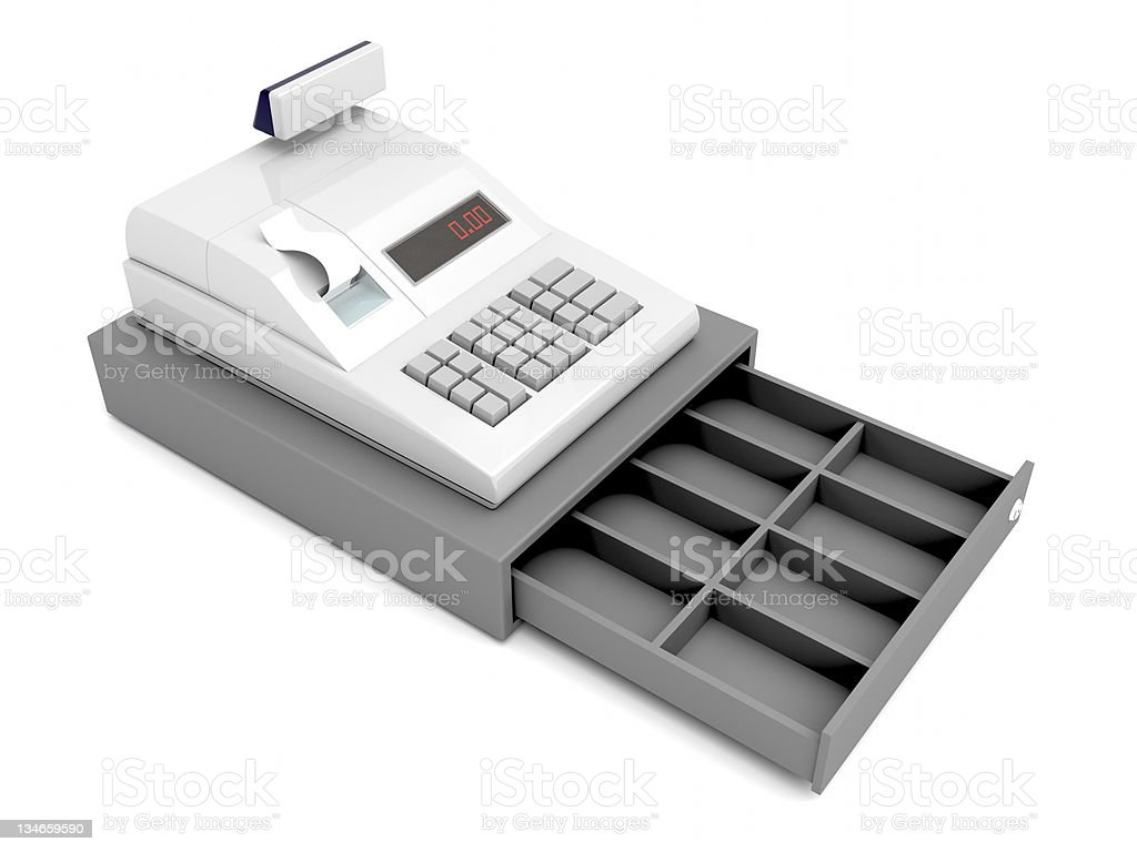 Cash register without money royalty-free stock photo
