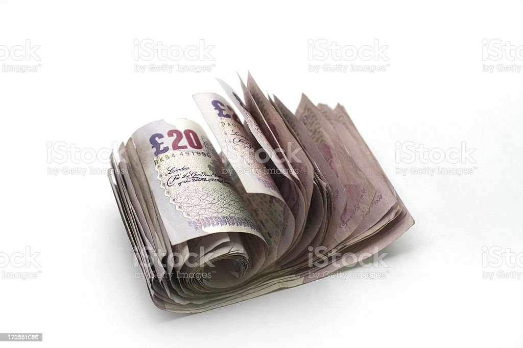 Cash roll stock photo