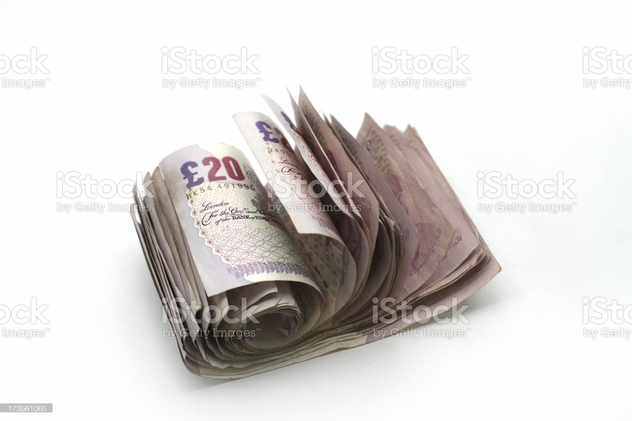 Cash roll royalty-free stock photo