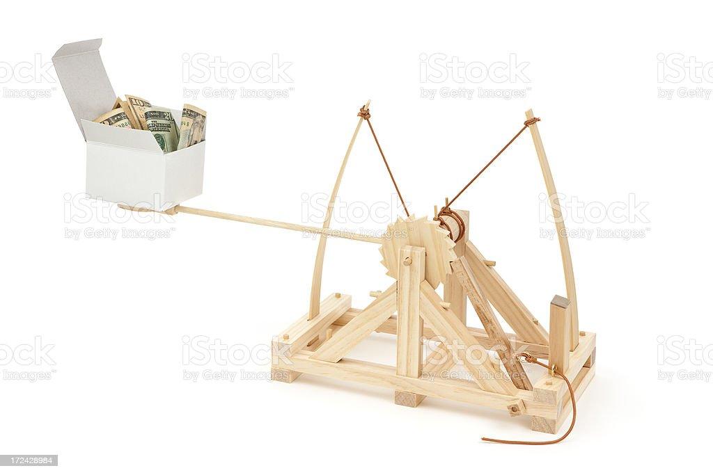 Cash Savings Catapult stock photo
