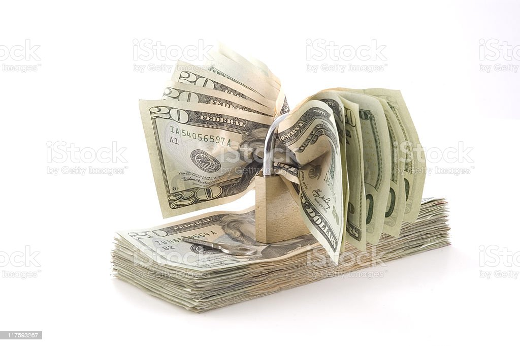 Cash security. Banking, finance, money, business concept. stock photo