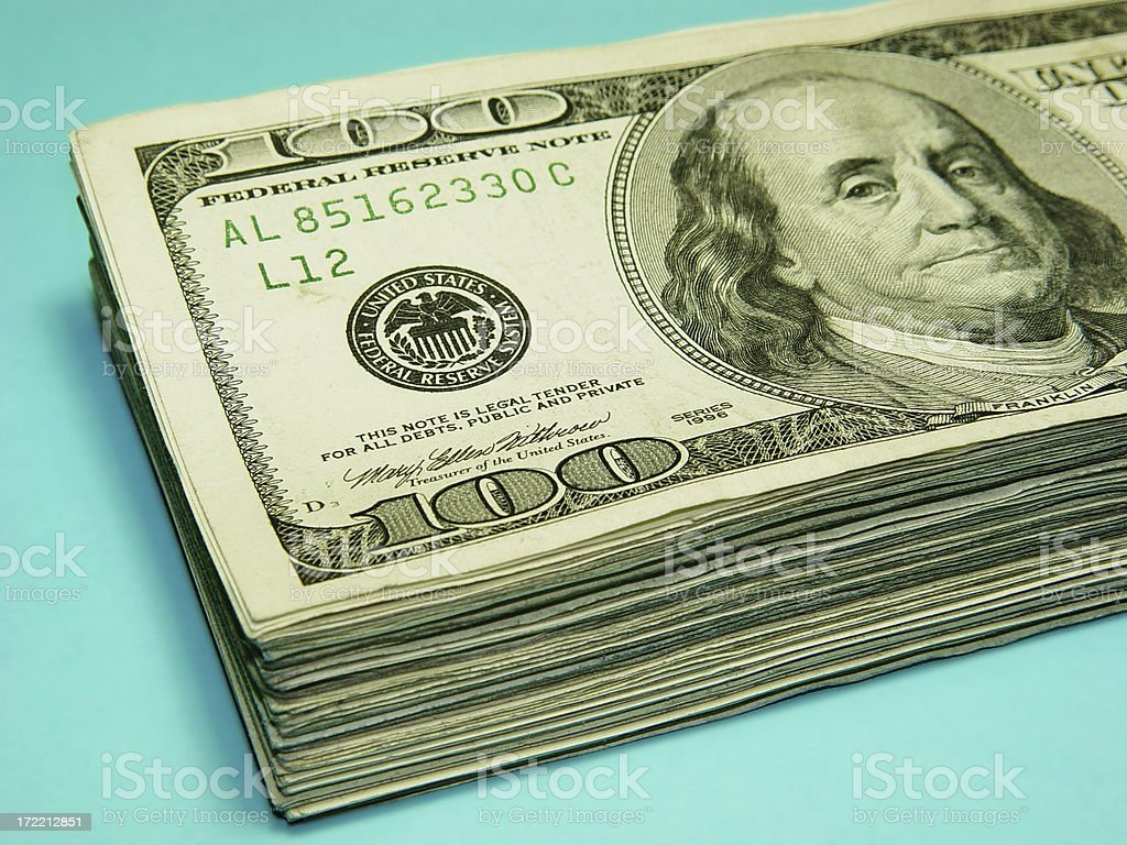 Cash Stack stock photo
