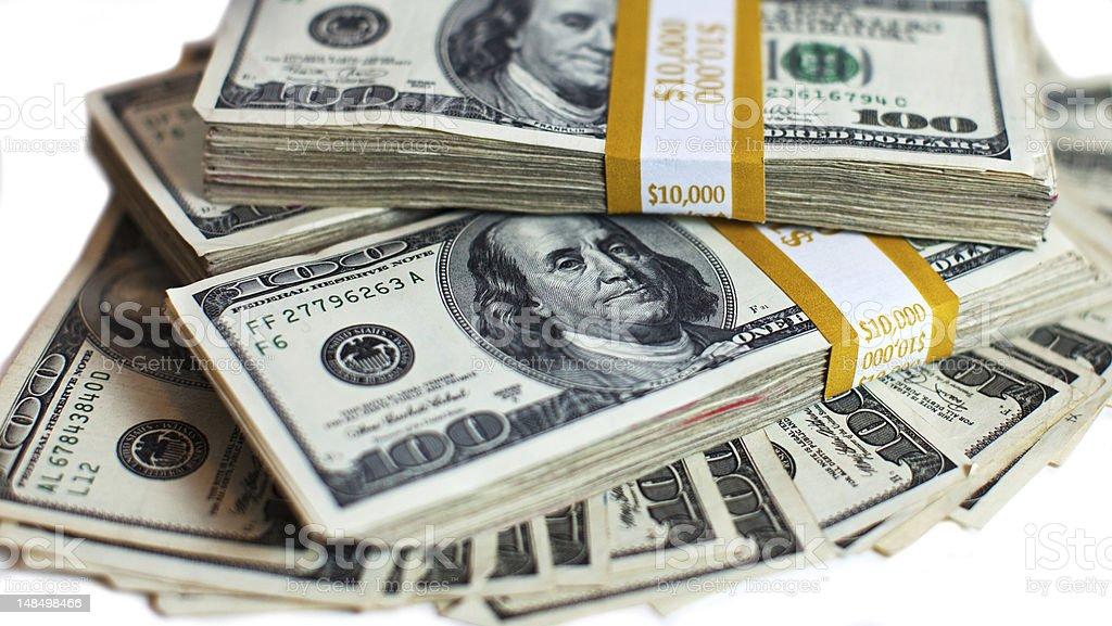 Cash Stacks royalty-free stock photo