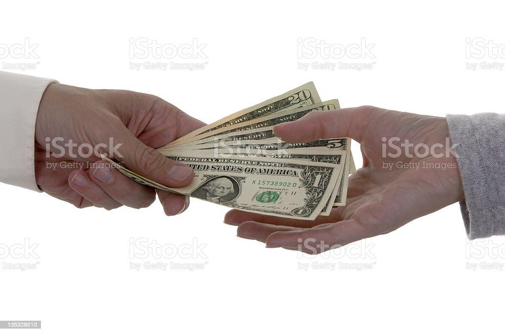 Cash Transaction royalty-free stock photo