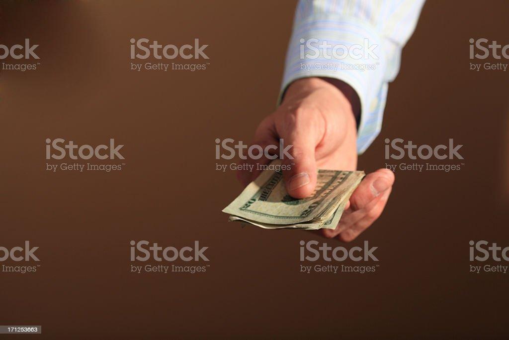 Cash Transaction stock photo